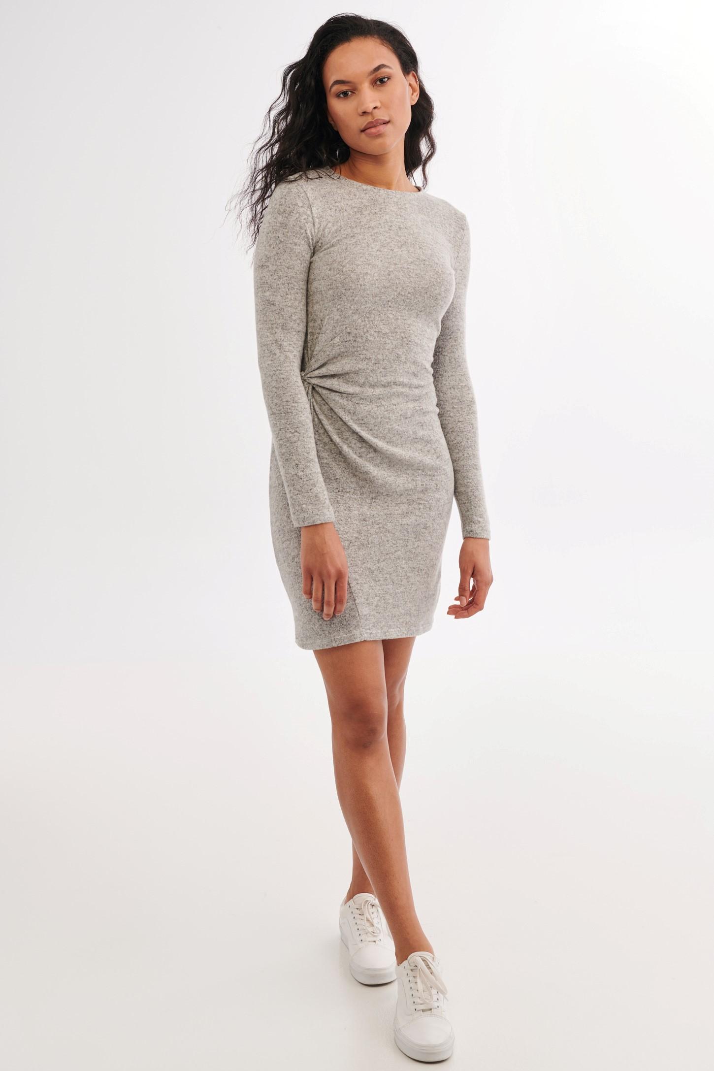 Tricot Fin Midi robe sur le côté fente Business Basic fendue Étui Robe 3038