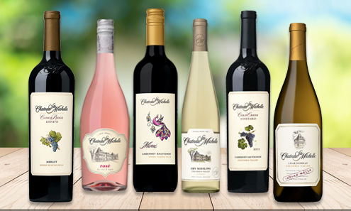 A variety of Chateau Ste. Michelle wines