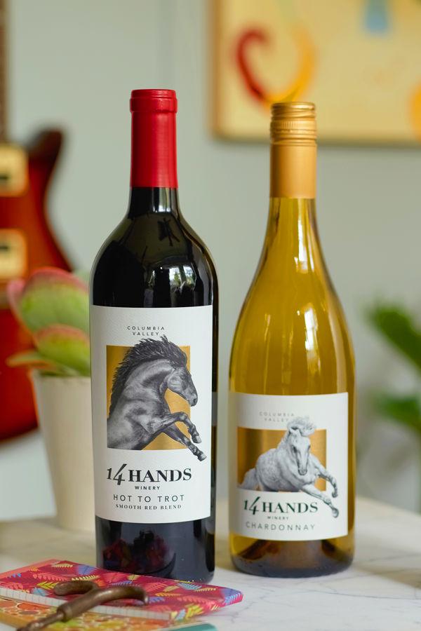 3 bottles of 14 Hands wines