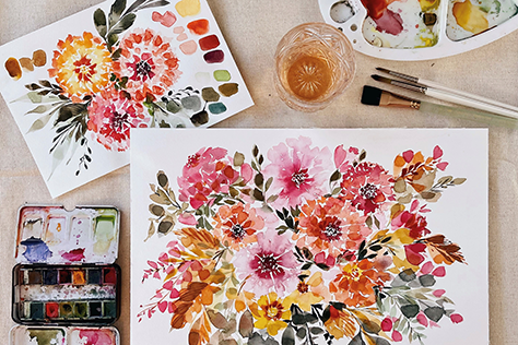 Wine & Watercolor with Paige Lindsey image